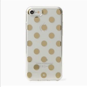 Kate Spade Clear Gold Poke Dot IPhone Case 6 PLUS